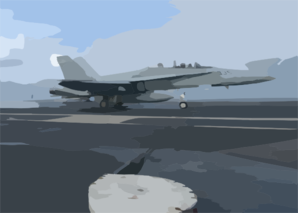 An F/a 18d Hornet Assigned To The Rough Raiders Of Strike Fighter Squadron One Two Five (vfa-125) Makes An Arrested Gear Landing On The Flight Deck Aboard Uss Theodore Roosevelt (cvn 71). Clip Art