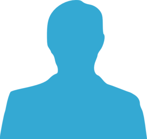 Turquoise Anonymous Man Clip Art