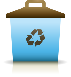 Blue Recycling Container Clip Art