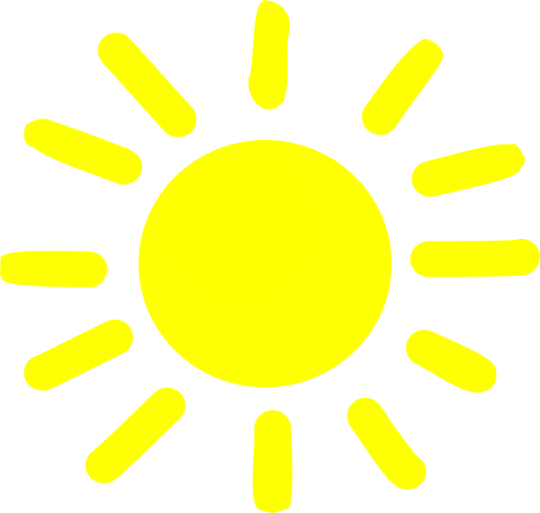 Yellow Sunshine Clip Art at Clker.com - vector clip art ...