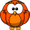 Orange Hoot  Clip Art