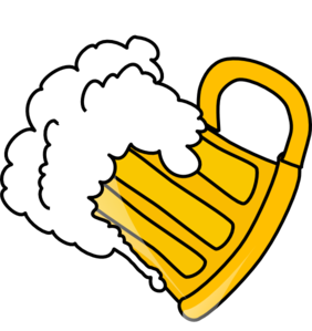Tilted Glass Of Beer Clip Art