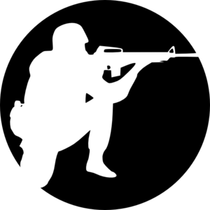 Circle Soldier Aiming Clip Art