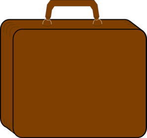 Colorless Suitcase-brown Clip Art