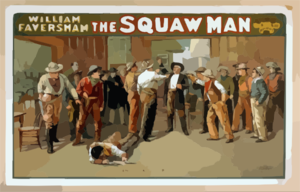 William Faversham In The Squaw Man Clip Art