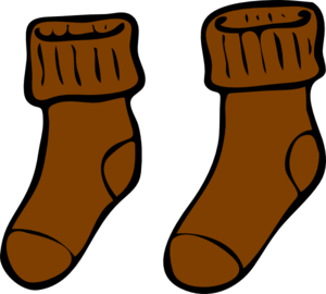 Brown Sock Clip Art