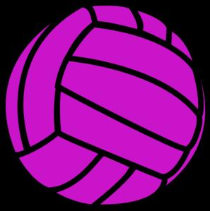 Purple Volleyball  Clip Art