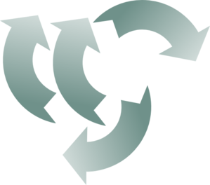 Recycle Splitted Clip Art