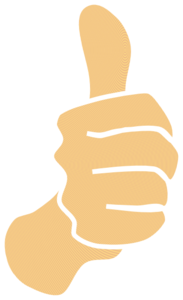 Thumbs Up, Modified Original With White Borders Clip Art