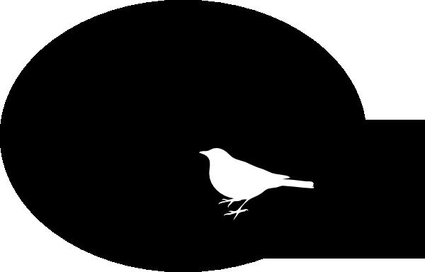 White Bird On Black Background Clip Art at Clker.com ...