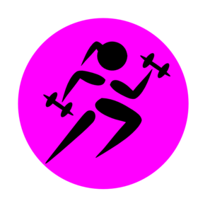 Runninggirl Weights 2 Clip Art