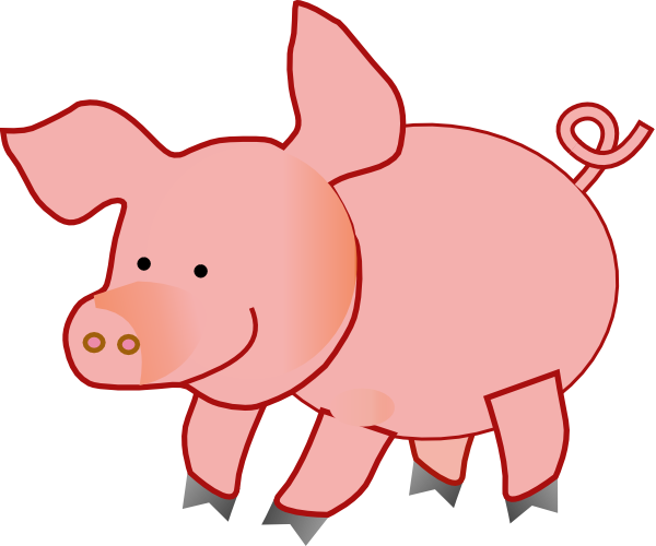 pig clip art at clker com vector clip art online royalty free rh clker com free clipart of pig clip art of pigs with wings