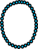 Necklace Aqua Beads Clip Art