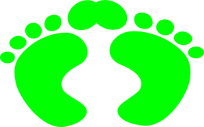 Green Footprints 1 Clip Art