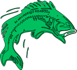 Bass Fish Green Clip Art