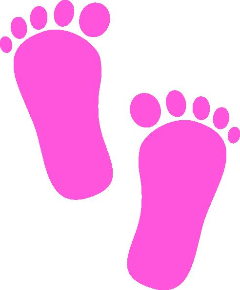 Baby Girl Footprints Clip Art At Clker Com Vector Clip