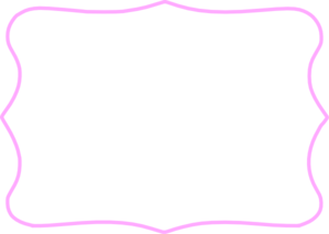 Clipart Pink Tag Frame on Preschool Name Tag