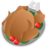 Thanksgiving Turkey Icon Clip Art