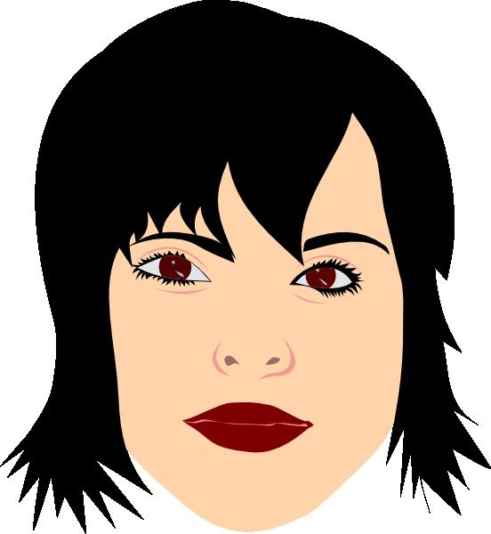 Black Hair Vampire Clip Art at Clker.com - vector clip art ...