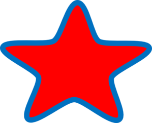 Joans Red Star Clip Art