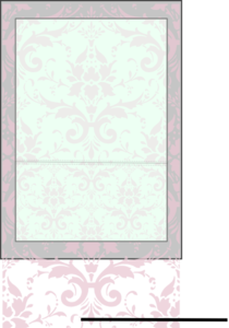 Pink Mint Damask Clip Art