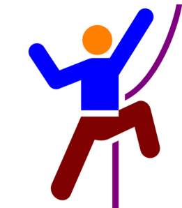 Climber-colourful Clip Art