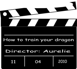 Movie Clapper Board - Train Your Dragon Clip Art