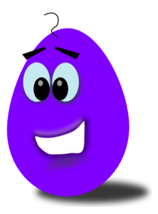 Easter Bunny With Eggs Clipart Purple Comic Egg Clip ...