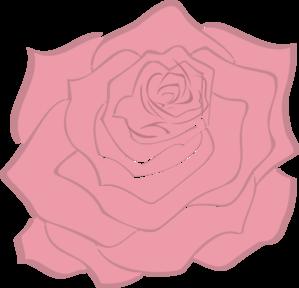 Pink Pale Rose Clip Art at Clker.com - vector clip art online ...