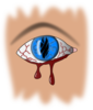 Bleeding Eye Clip Art
