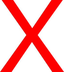 Image result for red X PNG