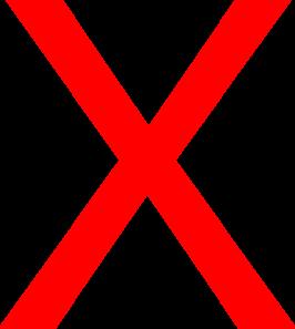 Red x big. Clip art at clker
