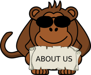 Monkey About Us Clip Art