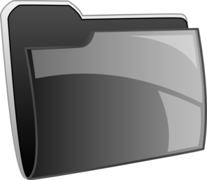 Black Folder Icon Clip Art