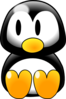 Penguin Left Look Clip Art