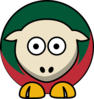 Sheep Minnesota Wild Team Colors Clip Art