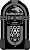 Jukebox Black And White Nubbs Clip Art