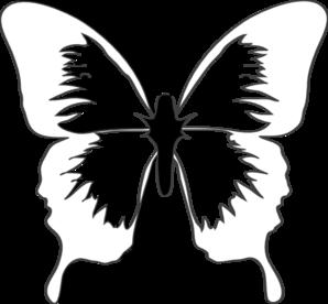 blue butterfly clip art at clker com vector clip art online rh clker com butterfly pattern black and white clipart cute black and white butterfly clipart