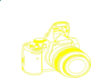 Camera Yellow Clip Art