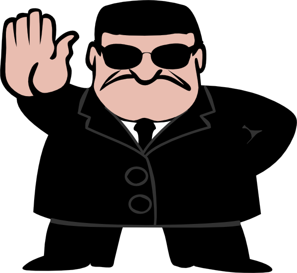 Halt man clip art at vector clip art online royalty free p - Garde corps transparent ...