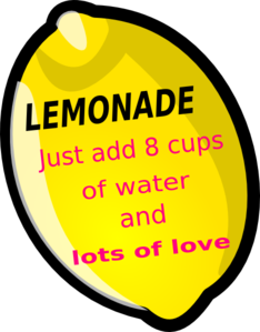 Lemonade Favor Tag Clip Art