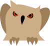 Owl With Red Eyes Clip Art