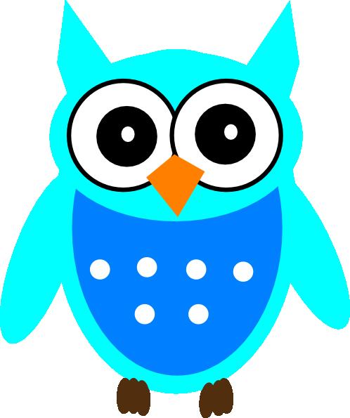 Cute Blue Owl clip artCute Owl Clip Art