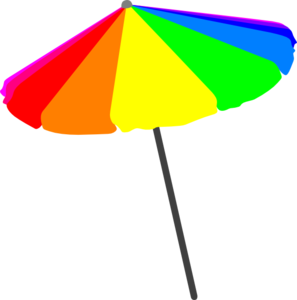 Beach Umbrella, Primary Clip Art at Clker.com - vector clip art online ...