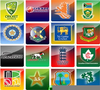 Cricket Team Flags Image