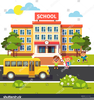 High School Buildings Clipart Image