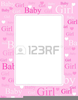 Free Girl Baby Shower Clipart Image