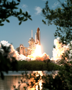 Space Shuttle Blast Off Image