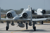 U.s. Air Force A-10 Thunderbolts Taxi For Takeoff From A Stop-over Point While Transiting To A Forward Deployed Location In Support Of Operation Iraqi Freedom Image