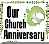 Happy Th Anniversary Word Art Clipart Image